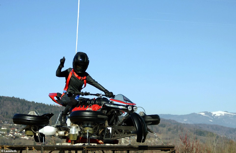Photo of Four Wheeler Motorbike That Can Fly; LMV96