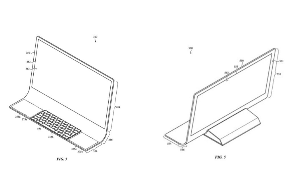 Photo of Apple's new All Glass iMac Design Patent