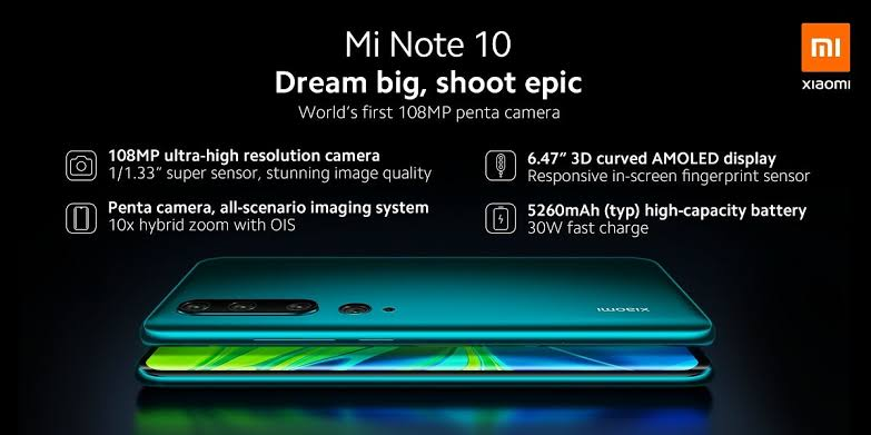 Photo of Mi Note 10 and Mi Note 10 Pro Complete Specs And Price Leak