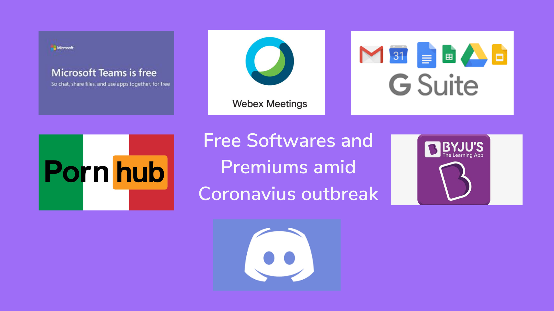 Many Softwares/Premiums go Free Due to Coronavirus Outbreak