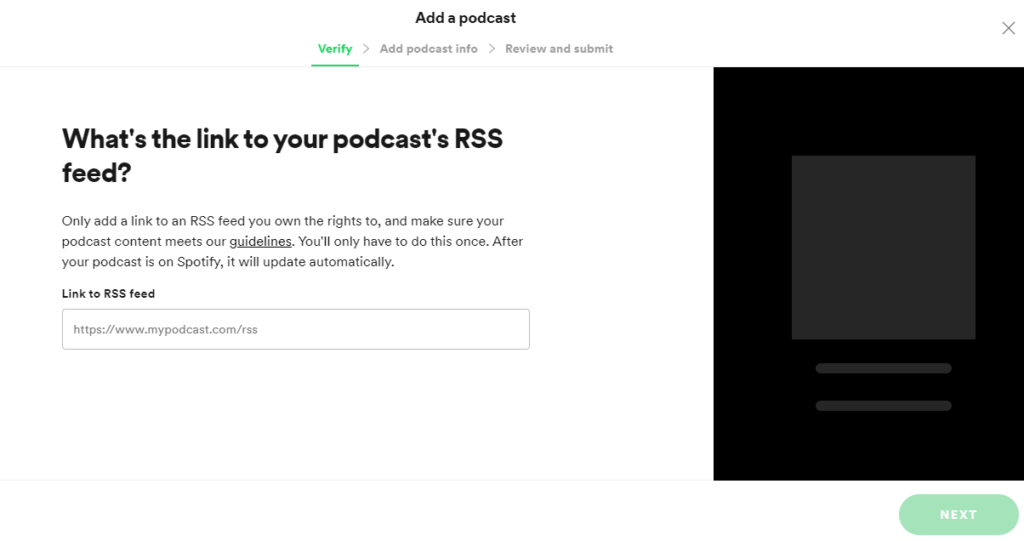 How to upload a podcast on Spotify?