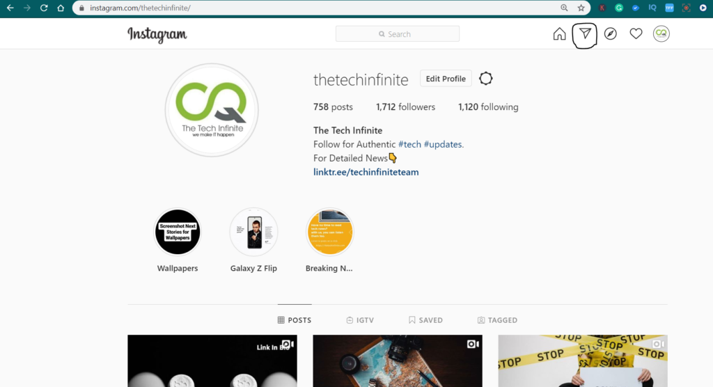 Instagram for Web Supports Direct Messages [DMs]
