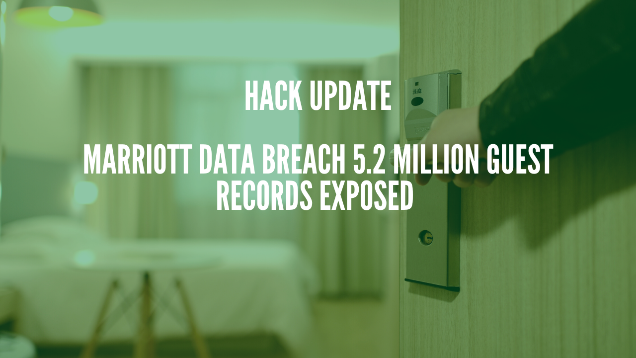 Photo of Marriott Data Breach 5.2 Million Guest Records exposed