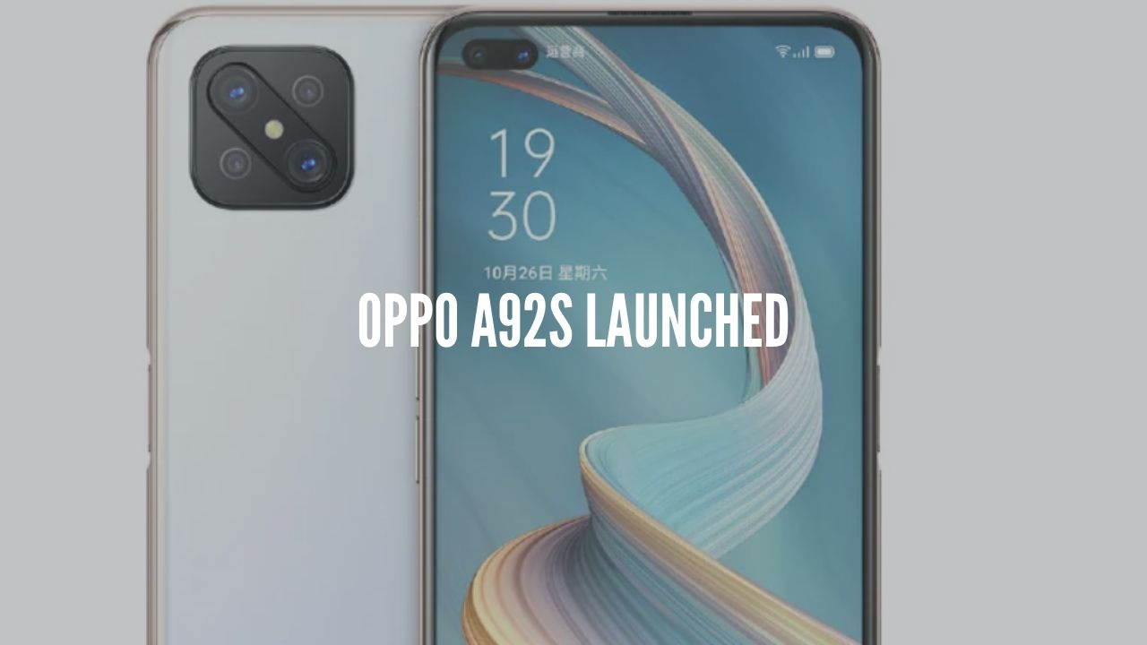 Photo of Oppo A92s Launched with 120Hz refresh rate display