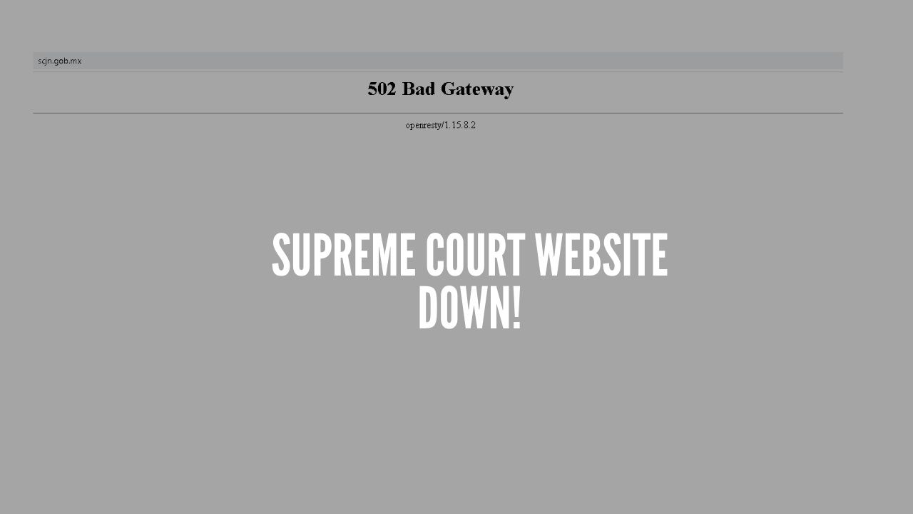 Photo of Mexico's Supreme Court of Justice Website Hit by Anonymous