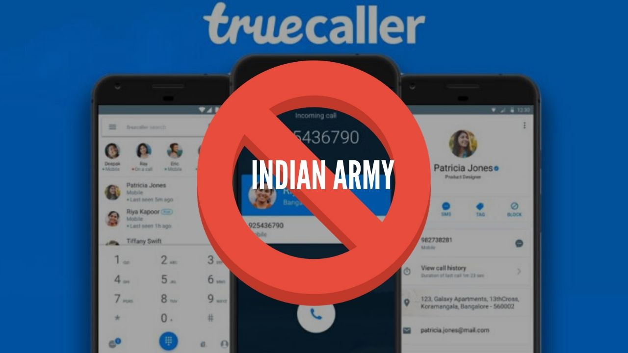 "Photo of True-Caller ""Disappointed"" after being banned by Indian Army"