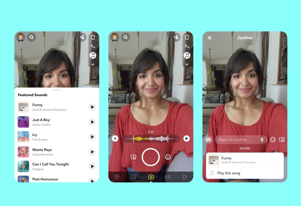 snapchat-introduces-tiktok-like-music-feature