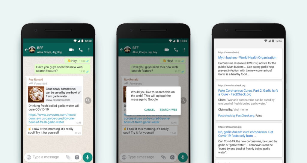"Upcoming New ""Search The Web"" Feature in Whatsapp"