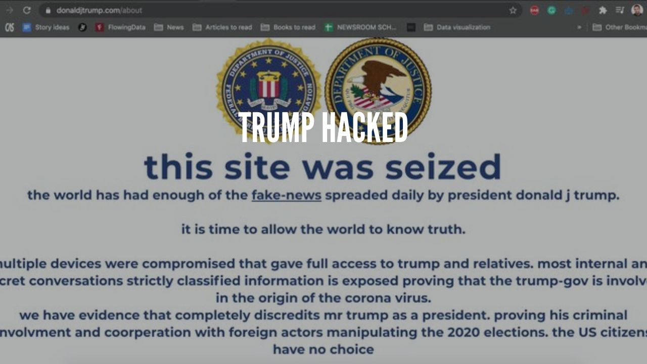 Photo of Trump's Official Campaign Website Hacked and Defaced