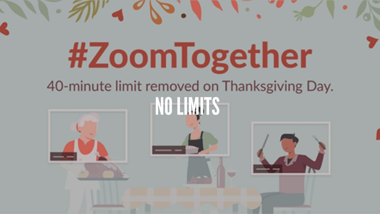 Photo of Zoom removing 40-minute limit on Thanksgiving