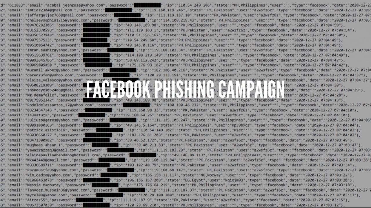 Facebook Phishing campaign