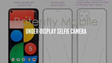 Photo of Google Pixel 6 patent suggests an under-display selfie camera