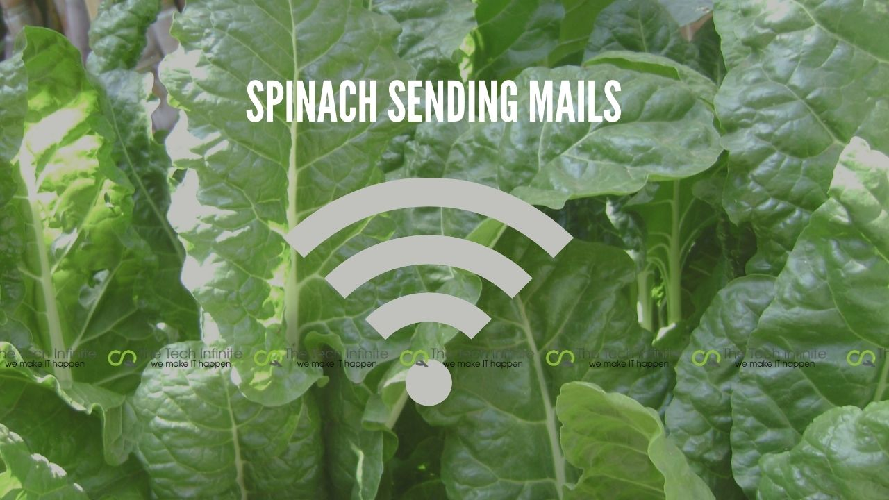 spinach sending mails