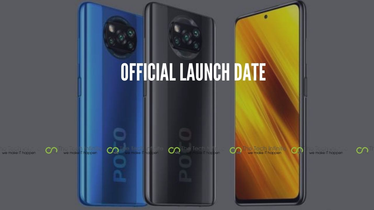 official launch date poco x3